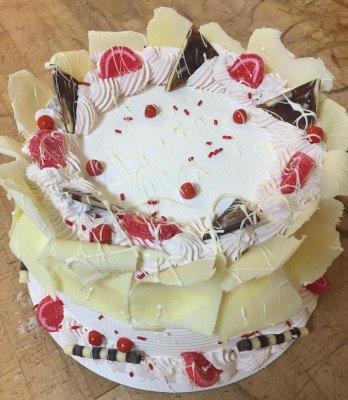 Raspberry Fan Torte