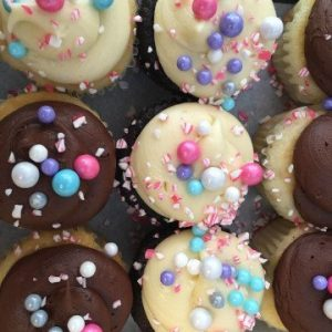 tray of cupcakes at The Bakery Shoppe