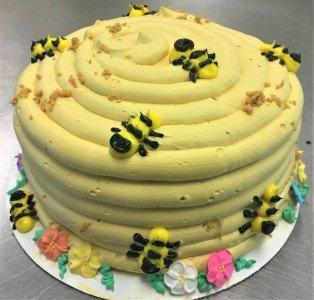 custom cake - Bumble Bee Hive Cake