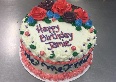 Birthday Cake with Cream Cheese by The Bakery Shoppe