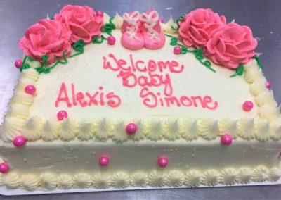 one quarter sheet cake