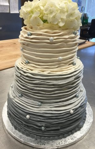 The Ombre in a 3 tier wedding cake
