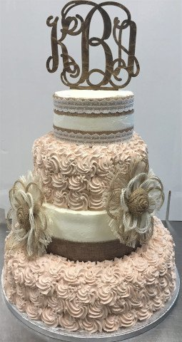 4 Tier Wedding Cake from The Bakery Shoppe