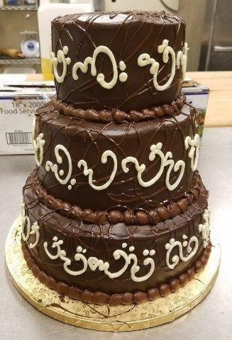 Chcolate Ganache Wedding Cake