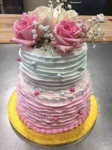 2 Tier Cake - Ombre