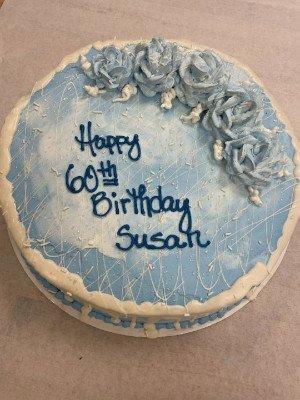 A customized birthday cake